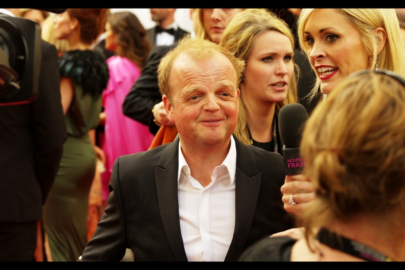 It's Toby Jones!!!  I know who he is because he's in both the first two Hunger Games movies (I haven't watched the third) and the first two Captain America films.