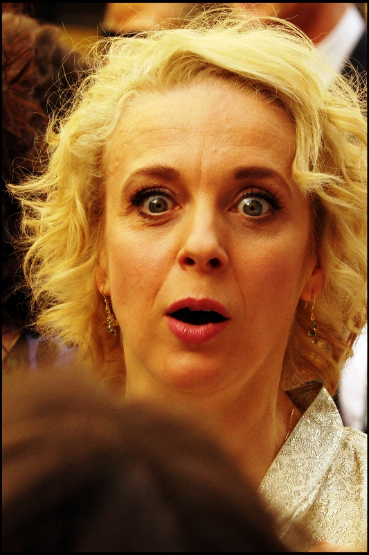 OMG : It's somebody from one of only two TV shows I watch!! It's Amanda Abbington, who plays Watson's wife in Sherlock.