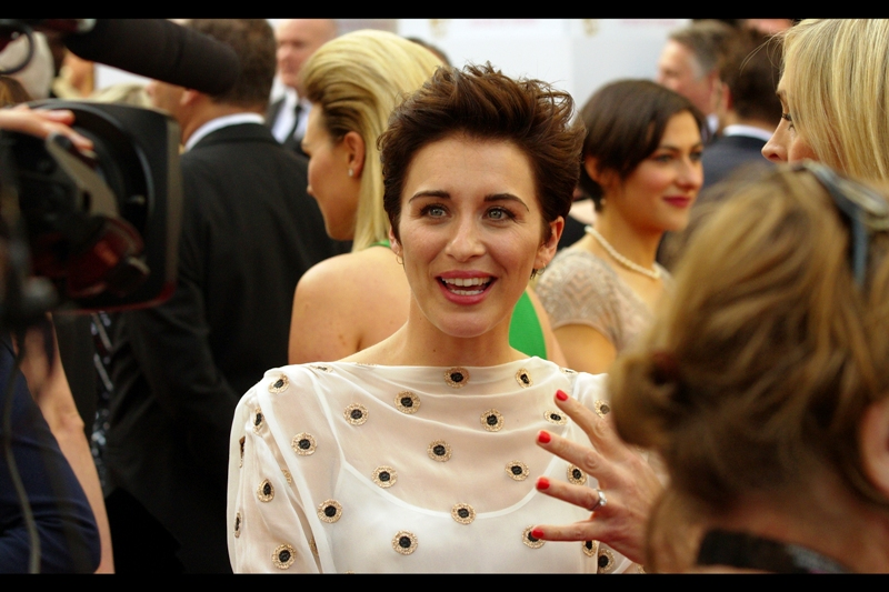 """It's like... there are so many people here, and I don't know any of them!""  I really do think they ought to have name-tags at these things. Even if A-Listers wore them ironically it would still be cool....  (edited to add : Vicky McClure)"