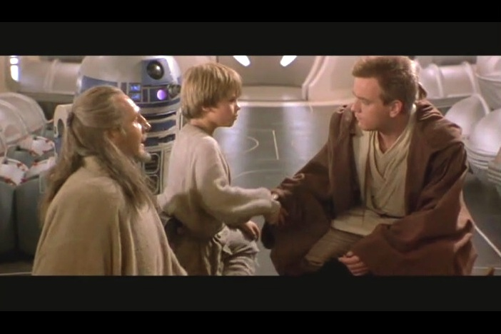 There is no intrinsic reason why a young kid shaking the hands of the Jedi Who Stayed On The Ship is such a big deal at the time it happens. But please, movie... linger on it longer.