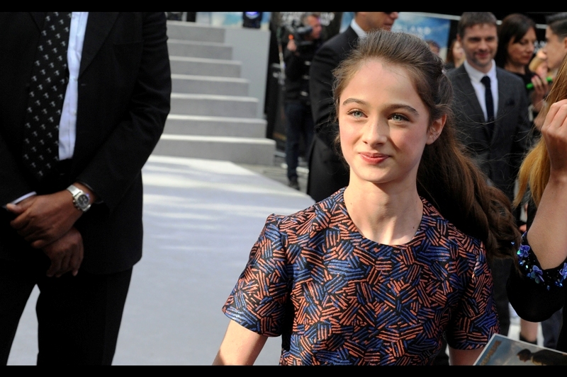 """Besides wearing a dress designed to helpfully assist the contrast-detect-based Autofocus on my Pentax, Raffey Cassidy is best known for being in the TV show """"Mr Selfridge"""""""