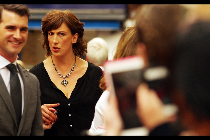 """Don't call me 'handsome'. I am a woman. That man in front and to the right of me is handsome. And a man. Somebody tell him for me"" . Miranda Hart is a 3-time TV Comedy Award winner and multiple TV Bafta nominee."