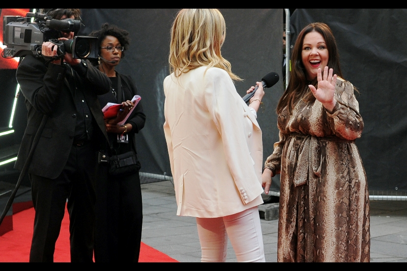 """Platonic High-Five!! Because there's no way security is letting any of y'all onto this red carpet"""
