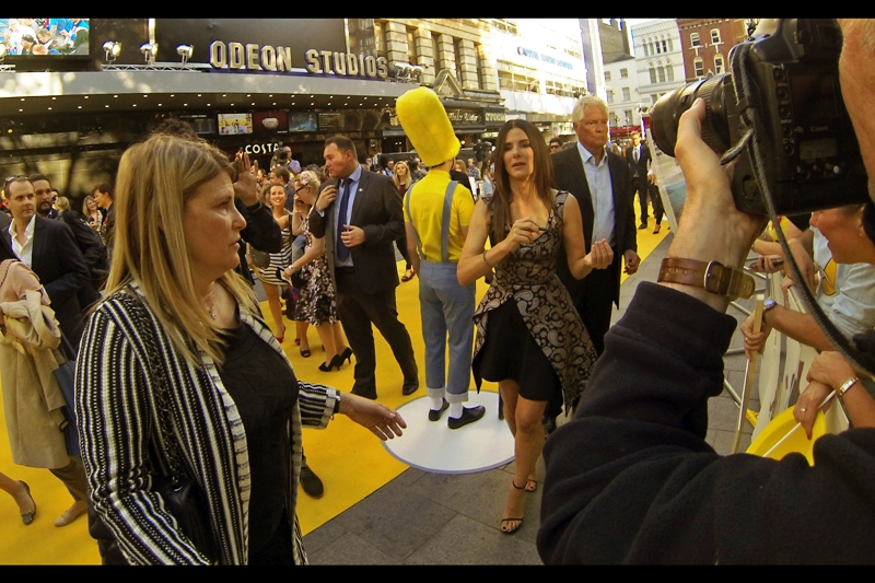 """I last photographed Sandra Bullock at  the premiere of """"The Heat""""  back in 2013, where like this film she was the only member of the cast to attend. Come to think of it, she was also the only member of  the cast of """"Gravity"""" to show up for THAT premiere ..."""