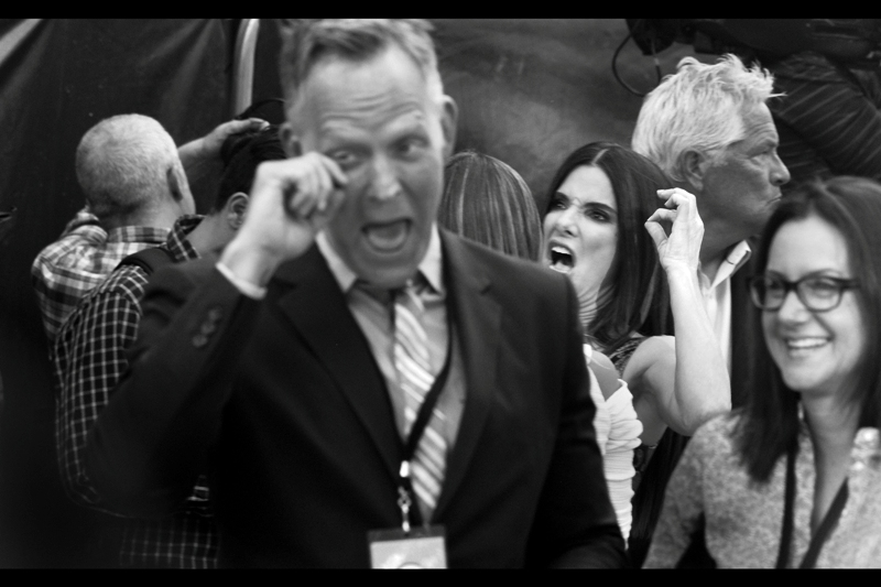 """I'm not saying this photo is or ever could have been as awesome as Ian McKellan being kissed by Jean-Luc Picard  at yeterday's premiere of """"Mr Holmes"""" , but this photo of Sandra Bullock, had I been standing half a metre to the right and slightly faster in reaction time, could have been better."""