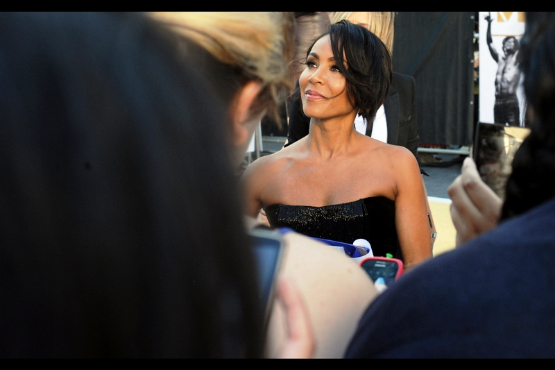 """""""Sure, I can happily sign that poster. But you do realise I'm not actually IN Guardians of the Galaxy"""" . According to imdb.com, not even one of Jada Pinkett Smith's four most well-known roles is for two-thirds of The Matrix Trilogy."""