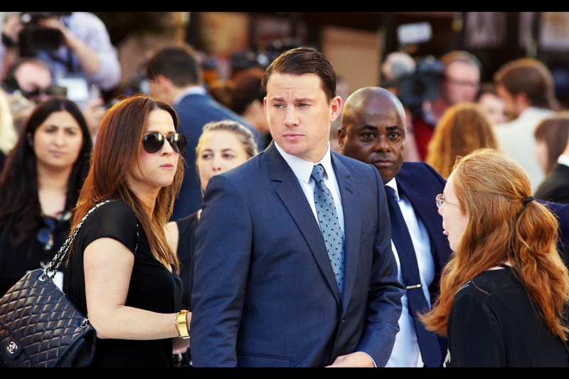 Channing Tatum is seemingly who everyone without a Y-chromosome is here to see at this premiere. Alterntively - the high-pitched screaming is drowning out the sound of the low-pitched screaming, if there is any.