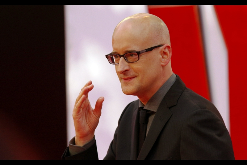 """This is my Ant-Man salute. I'm trying to make it into a Thing"".  Peyton Reed is possibly best known for directing the cheerleading movie 'Bring it On'.... but he also directed  (and was at the premiere of) the movie 'Yes Man'  with Jim Carrey back in 2008."