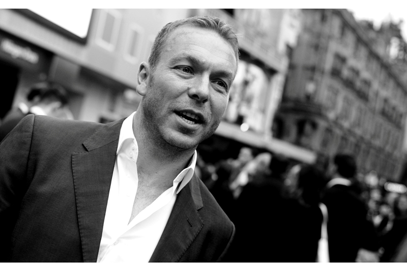 One last random Great Britain Sport Hero arrival : Chris Hoy, multiple Olympic cycling gold medal winner. I've long since forgotten why I'm at this premiere... but it has stopped raining.