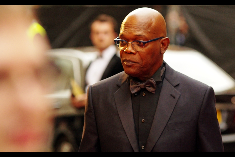 Our first BIG arrival is actor Samuel L Jackson. I like to think he shows up every year without an invitation, and is just so intimidating they just let him in before he starts putting on a black eye-patch and shooting missiles at planes.
