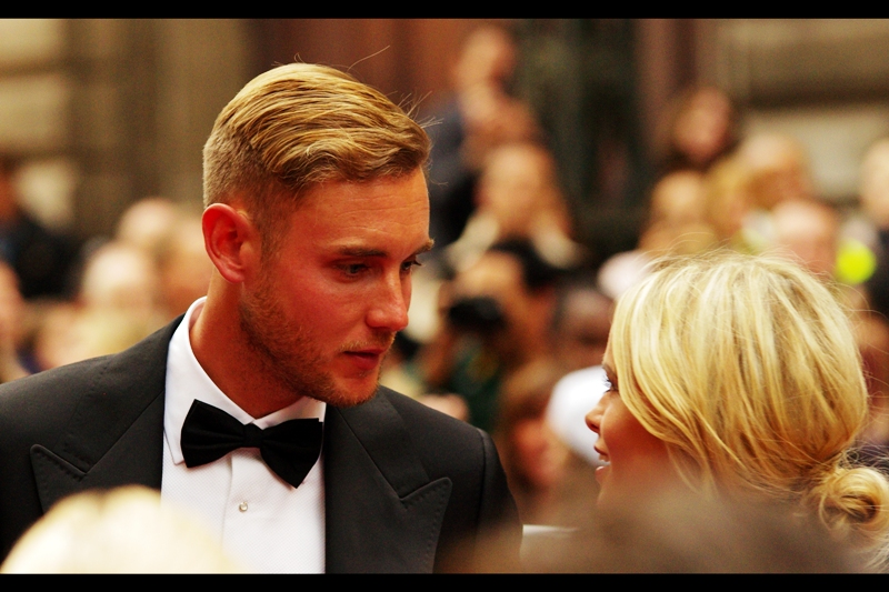 """Aren't you glad I remembered it wasn't a jeans-and-t-shirt event?""  English cricketer Chris Broad won the award for 'Outstanding Achievement' on the night. Whether it was for the cricket or the dress code adherence... I don't know."