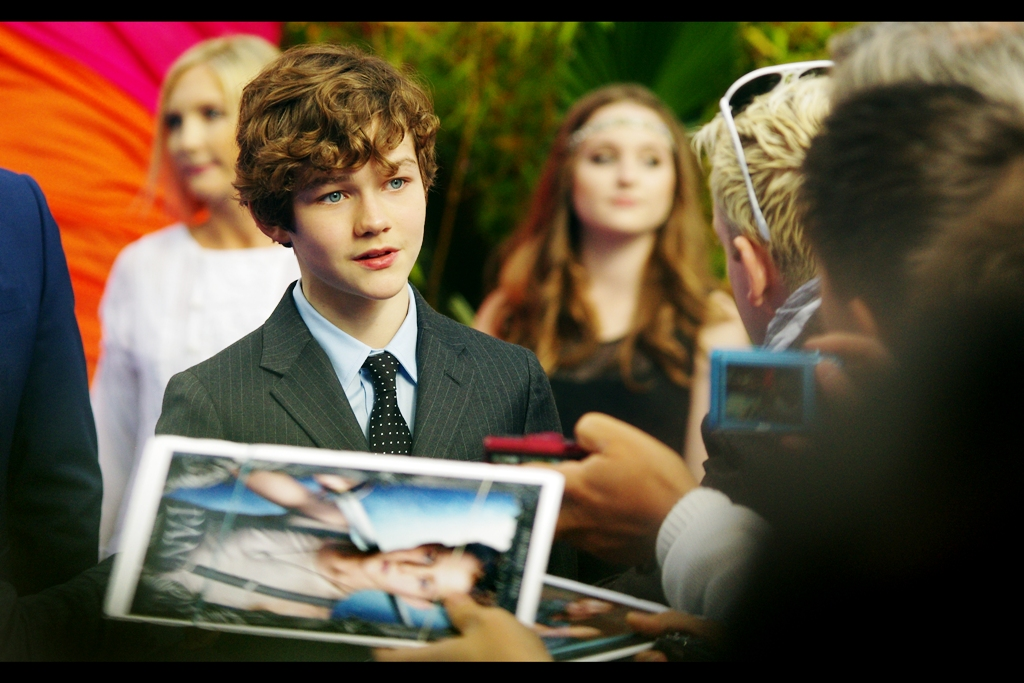 """""""You're three times my age and you intend to make money selling my autograph? How's that working out for you, long-term?"""" . I feel I should tell lead actor Levi Miller (who plays Pan in the film) that I do premieres for free... and really blow his mind."""