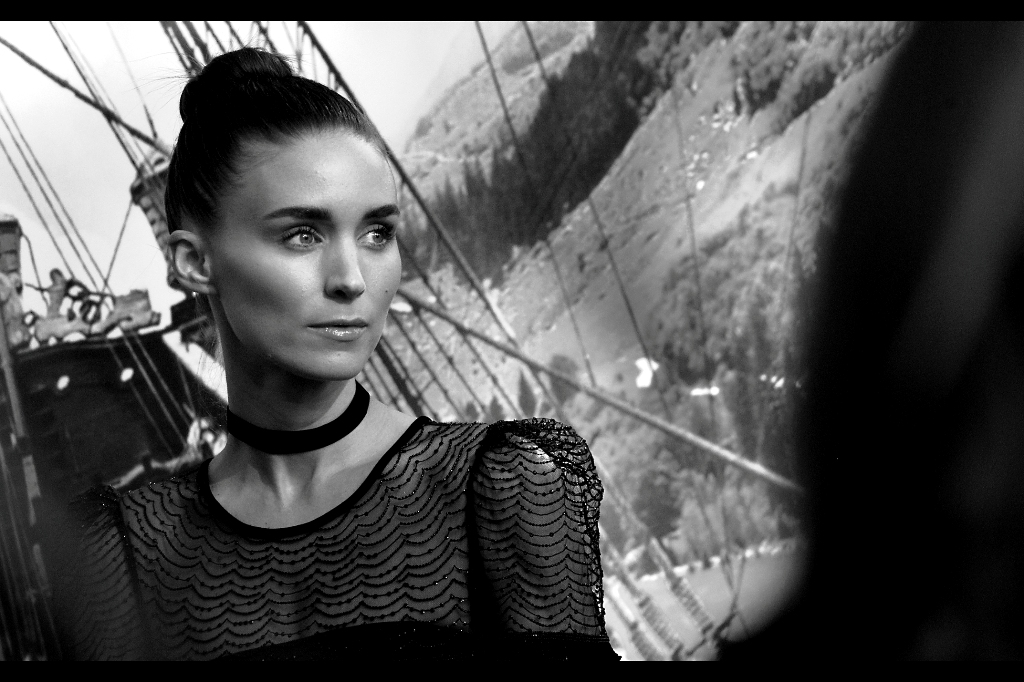 """""""I hope you guys caught my smile earlier, because I'm not doing it again"""".  Rooney Mara was awesome in her small role in The Social Network, and even more awesome in her larger role as Lisbeth Salander in  David Fincher's """"The Girl With The Dragon Tattoo"""" ... a movie whose sequel(s) apparently we've all been permanently robbed of for some unknown reason."""