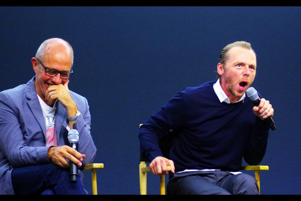 """Simon Pegg : """"....."""""""