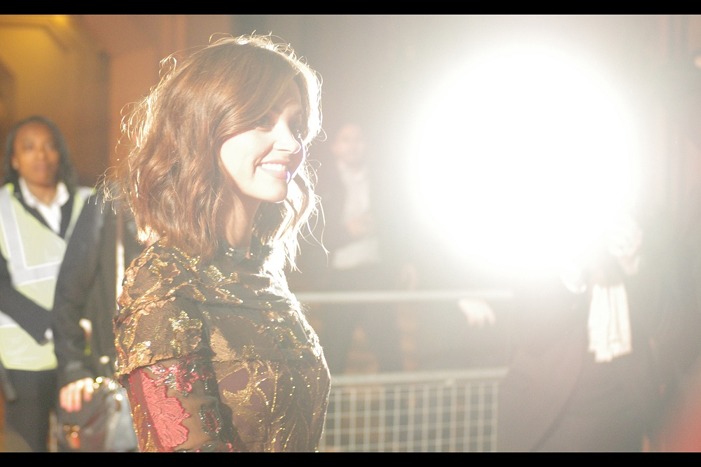 And one more photo of Jenna Coleman. Because this is my journal and that means I end it how I want. I still haven't got quite the perfect photo of her yet... and I've tried across  the premiere of Cinderella  (where was a guest),  The 2014 GQ Awards  (where I shot high-and-blind), and the  Dr Who Season 8 launch , where I shot from a stairwell (true story)