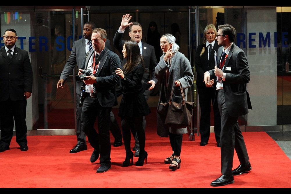 """"""".... what she said"""" . ... fortunately I've photographed Bryan Cranston before, in this case  at the premiere of """"Argo""""  two BFI LFF's ago..."""