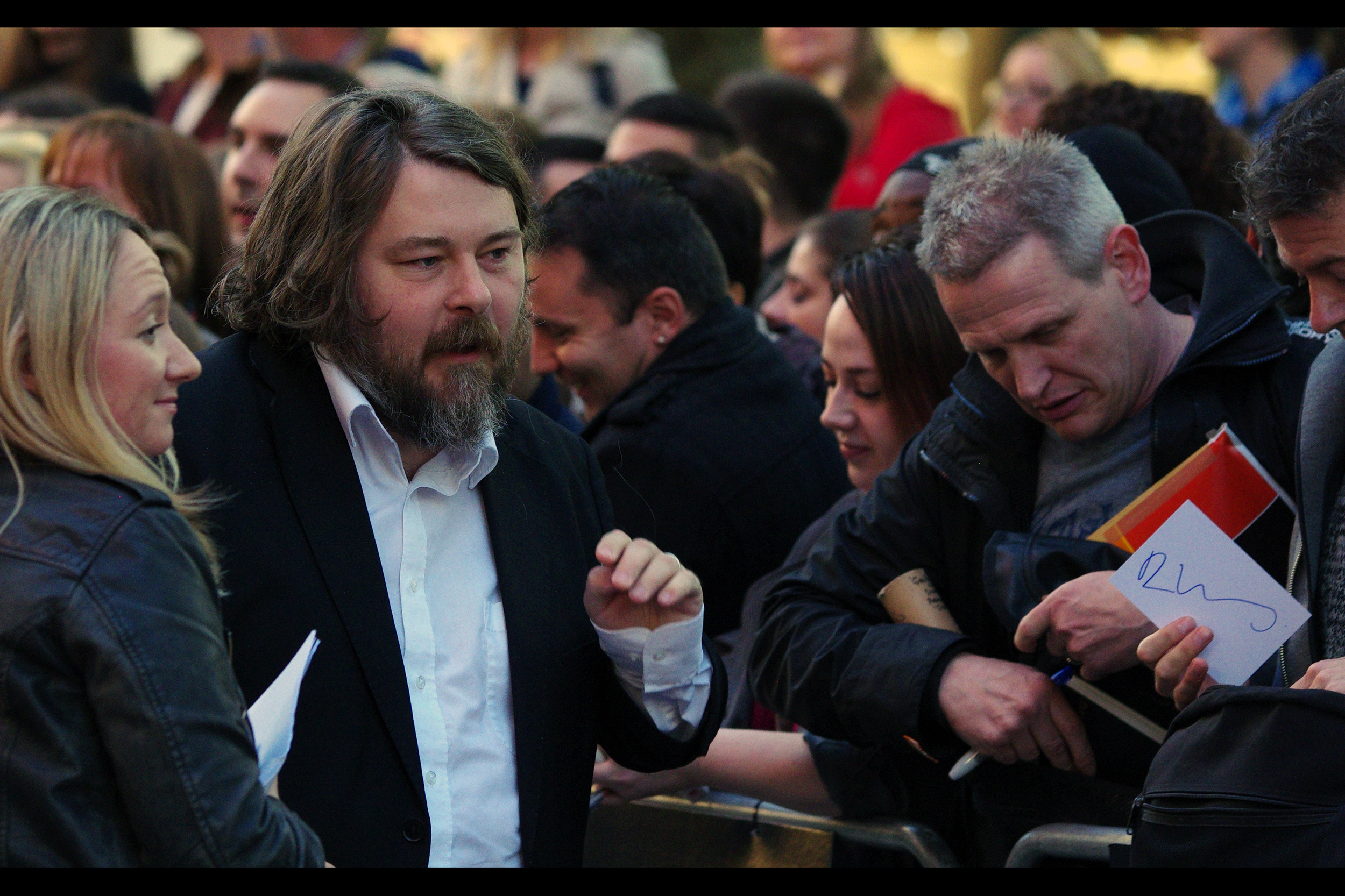 """Okay, so I signed your piece of cardboard. What have you got for me?""  Director Ben Wheatley (who also directed 'Kill List' and 'Sightseers') has arrived."