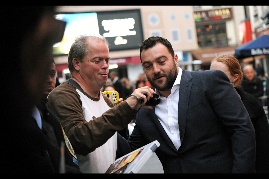 My first thought was ' Somebody's Ukrainian Bodyguard? ' but turns out this is actor Denis Menochet, and he was actually in (among many other things) Quentin Tarantino's  'Inglourious Basterds'