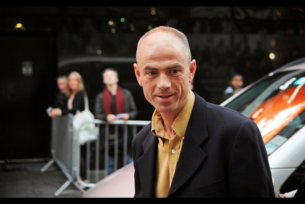 This is screenwriter John Hodge, who wrote this screenplay about the uncovering of cyclist Lance Armstrong being a drugs cheat. He (John Hodge, not Lance Armstrong) was nominated for an Oscar for the screenplay for 'Trainspotting' back in 1996.