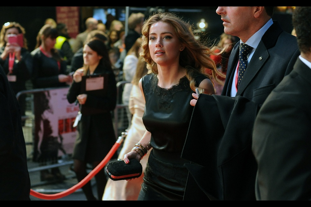 It's at this point that I think my brain hadn't yet realised I was holding a GoPro that could have simultaneously photographed more of Amber Heard along with the Nikon I was using. It's frustrating to realise that I'm not fully functional even when I'm partially functional .