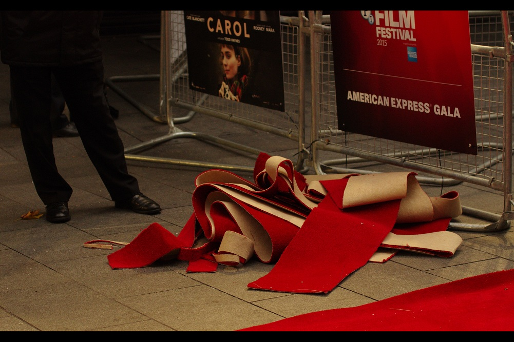 What becomes of the red carpet scraps at London premieres? Weirdly... the same thing that happens to the rest of the carpet : it's never seen again. (And on that sombre note...  let's never mention it again)