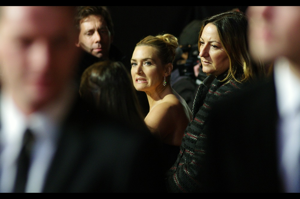 At almost every event or premiere Kate Winslet and I have simultaneously attended, be it  the premiere of Revolutionary Road ,  The 2010 Baftas , the premiere of  Titanic in 3D , or the premiere of  Divergent .... we've always shared A MOMENT. This premiere? It's looking dicey.