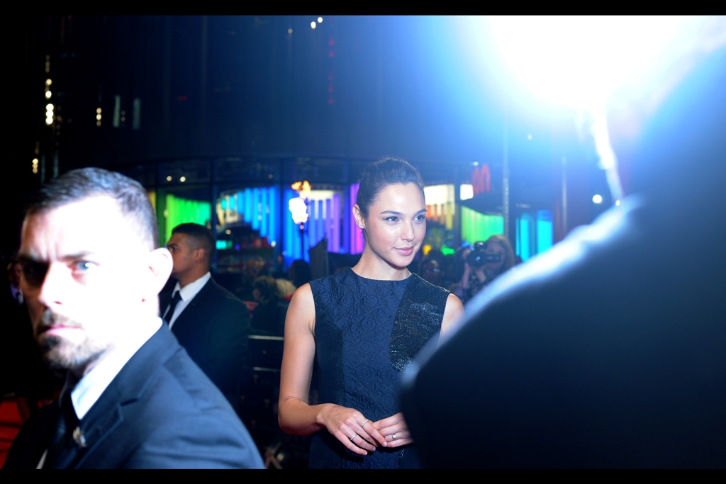 Worth it almost as much for Gal Gadot being stunningly beautiful as the glowering face of the security guy who presumably is upset because for duty's sake he's not allowed to turn around.