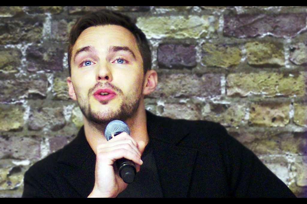 """""""I don't usually hit karaoke til after 9pm, but sure I can hum a few bars""""  - Nicholas Hoult takes on more pressing questions."""