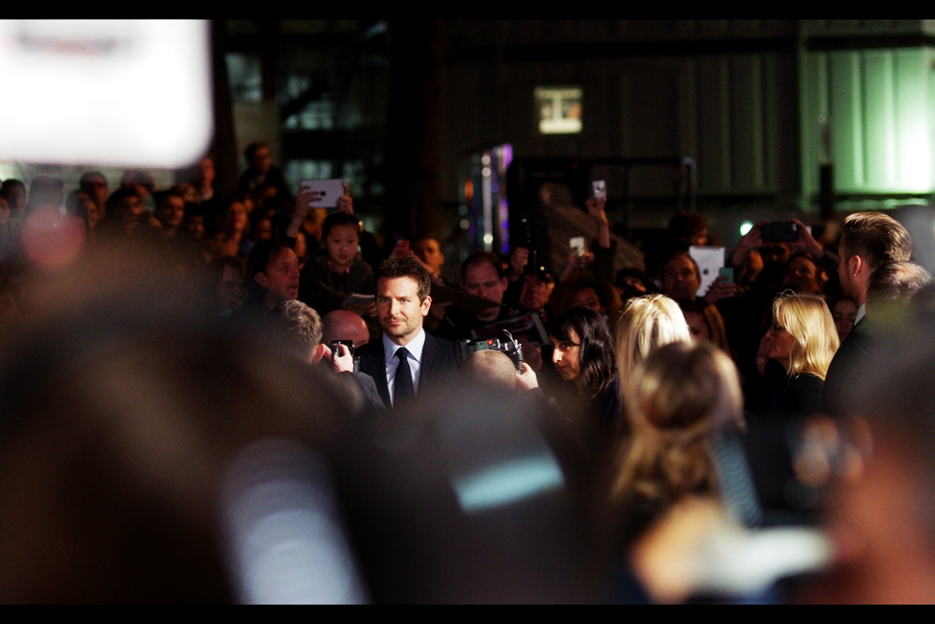 The sound that alien astronomers will be hearing bouncing around the corners of the cosmos in radio telescopes decades from now will be the aftershocks of the screams of hundreds of girls in Leicester Square at the instant actor Bradley Cooper arrived.