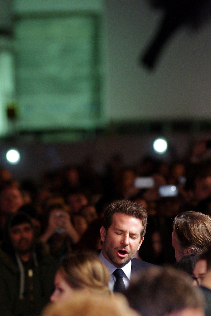 """""""Let me give you a baritone version of the intensity of that scream you just heard...""""  Bradley Cooper might possibly be best known for being in the Hangover films (including  the first  and  the third  film, both of whose premieres I photographed)"""
