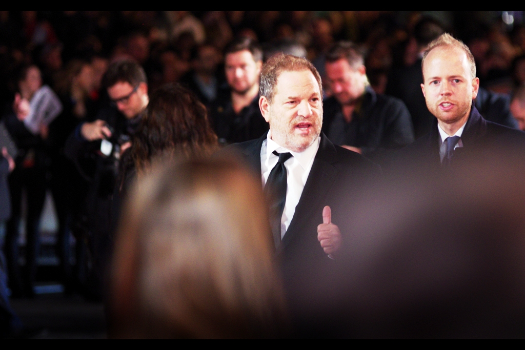 Legendary producer Harvey Weinstein has an Oscar, a Film Studio and (as at right now) 307 producing credits on imdb. Although I lack an Oscar, a Film Studio and even a tie that colour, I am slightly cheered by the fact that as at right now,  my 'Archive of Movie Premieres' contains (sightly) more entries  than movies Harvey Weinstein has produced. Only just.