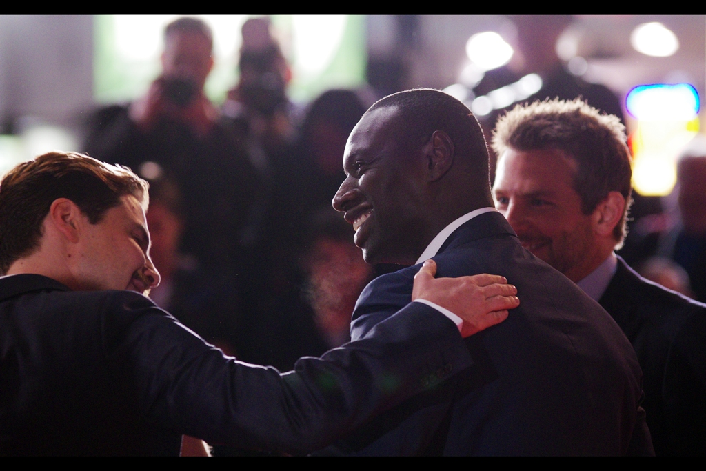 """""""Dude... why is everyone screaming in French at you??""""  - Omar Sy is arguably best known for being Chris Pratt's motorbike riding, raptor-training buddy in this year's Jurassic World... although I'm much more intrigued that about 1/3 of the fans in the area I am in appear to be speaking French and here just to see him."""