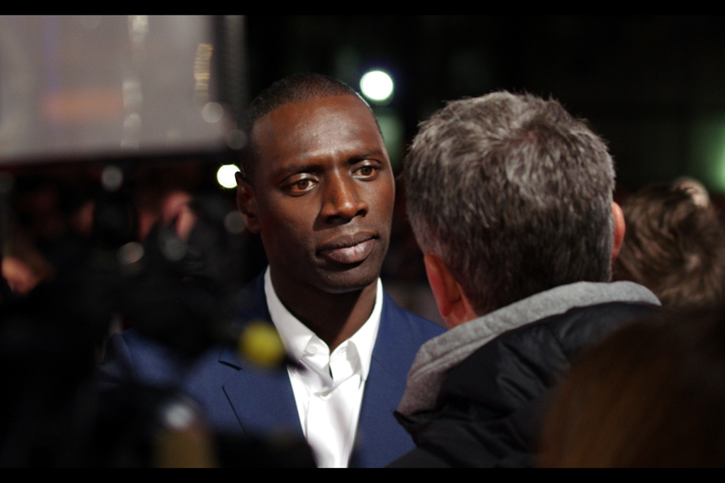 """""""Would you say you're the French Idris Elba?....""""  (lengthy pause)  """"..... or is maybe Idris Elba the English you""""  (lengthy pause)  """"I guessing he's the English you...."""""""