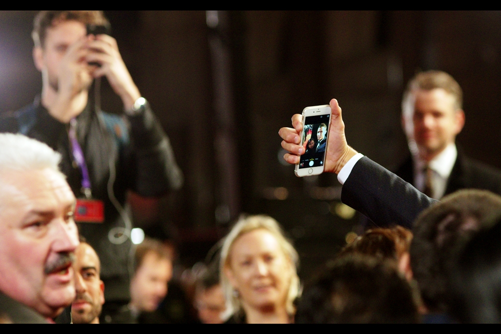 """""""Look : I have a iPhone, just like normal people do. I believe it's important not to lose touch with the common folk""""  As part of the festivities, Cristiano Ronaldo attempted to break the record for most selfies taken in 3 minutes, set at 106 by  Dwayne The Rock Johnson at the premiere of 'San Andreas' earlier this year."""