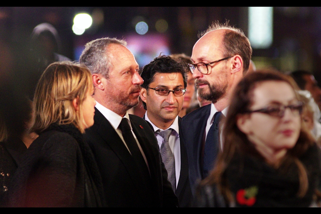 """""""Your hair looks atrocious. Admittedly there's not a lot that can be done with it, but you could have worn a sombrero, dude"""" . Asif Kapadia, centre, directed both the documentaries 'Senna' (about the late racing driver) and 'Amy' (about the late singer); and has won three BAFTAs."""
