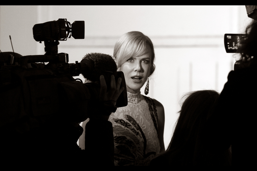 """This is the precise look I'm going to give if I win Best Actress tonight.""  And indeed, Nicole Kidman did win the award, for her performance in 'Photograph 51'."