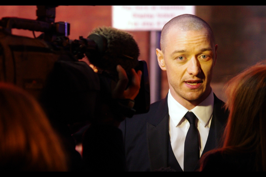 """Well, obviously if they're going to do a 'Star Trek : The Next Generation : First Class' series I'd be very happy to play a young Patrick Stewart again"" . Actor James McAvoy was this evening's other big winner, awarded Best Actor for 'The Ruling Class'"