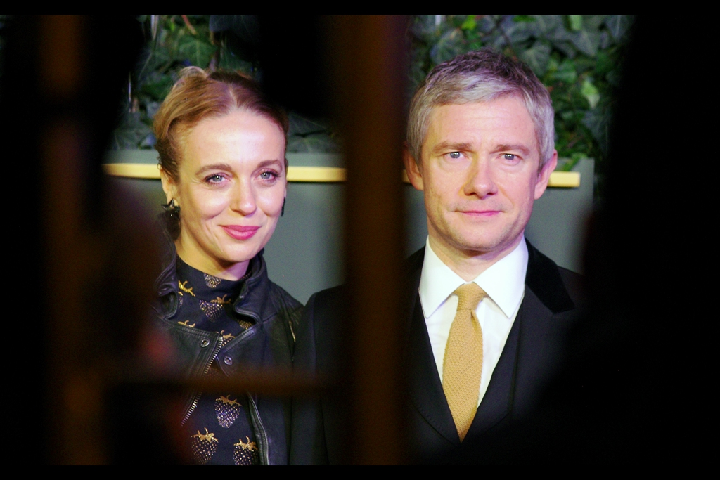 Conveniently standing on either side of some errant scaffolding, Amanda Abbington and Martin Freeman play husband and wife in the TV series 'Sherlock' which isn't theatre but does represent one of the few bits of British culture I've adopted over the past few years of living here. The scaffolding remains something I'm not a big fan of.