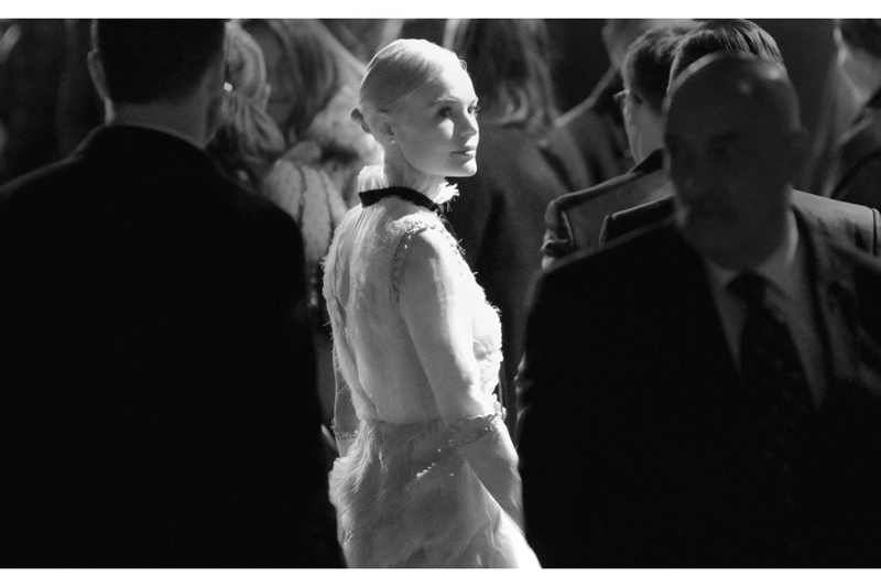 Somewhat improbably (I say, with zero clue as to who gets invited to fashion gigs), actress Kate Bosworth shows up. It's been 9 years and a reboot since she played Lois Lane in the ill-fated 'Superman Returns'. I actually think that movie hasn't aged too badly, and the John Ottman score is VERY good.