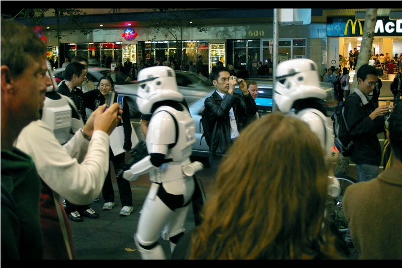 """If only these stormtroopers would get out of the way I could photograph that sweet marquee..."""