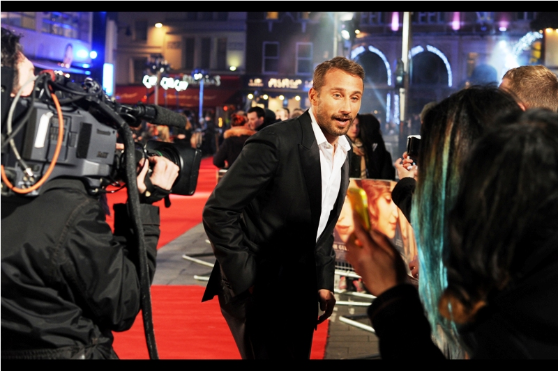 """""""  All the other guys are wearing ties tonight? Okay... but none of them are as good looking as I am""""  Matthias Schoenaerts is perhaps best known for being in the movie  'Rust and Bone' with Marion Cotillard , although I also photographed him early this year at  the premiere of 'Far From The Madding Crowd'"""