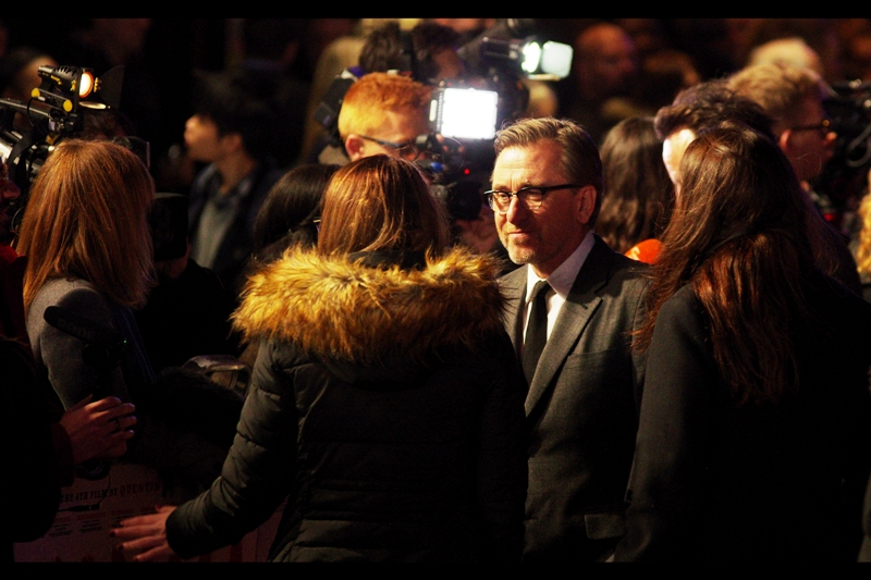 Tim Roth was Oscar-nominated for 'Rob Roy', but more importantly has been in two prior Tarantino films (Pulp Fiction and Reservoir Dogs as Mr Orange). Perhaps even more importantly (for me) he's one of FOUR people I've never photographed before at a premiere who are at THIS premiere.