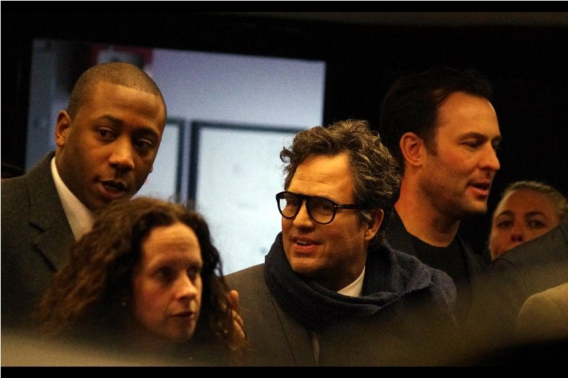 """""""Are all these people fans? I thought they were homeless!""""  Mark Ruffalo exits the cinema. Pandemonium threatens to ensue."""