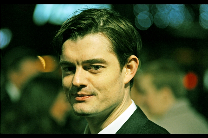 """"""" 'Maleficent'? Yeah... I also pronounce it Male-Efficient"""".  Sam Riley was also in that Angelina Jolie movie, whose premiere I missed and which I still have successfully avoided watching."""