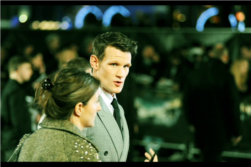 """""""Are those screams for me or are the zombies loose again? I don't care either way... I've got a chainsaw on me""""  Former Dr Who Matt Smith has arrived."""