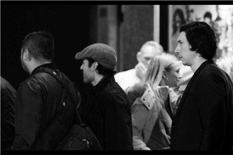 Adam Driver. Allegedly So Hot Right Now. (Adam Driver) (far right of photo... though the blurry dude with the Beanie is rightfully the focus of this shot)