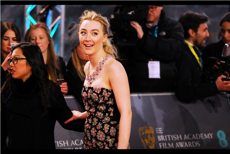 """""""I'll come over there only if you can pronounce my name correctly""""  - Soairse Ronan (pronounced somewhat unlike how you'd imagine it) was nominated for  Best Actress for the movie 'Brooklyn'  at whose premiere last year I almost didn't photograph her."""