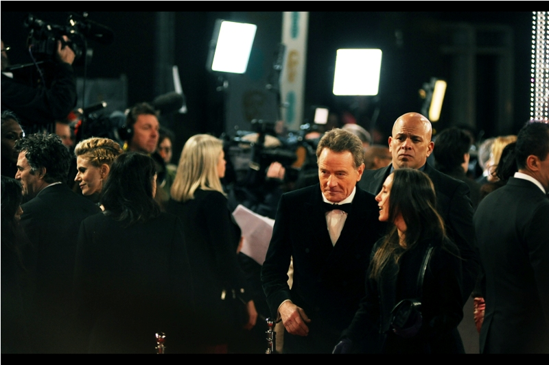 """""""With Taron Egerton distracting the crowd, you should be able to make a run for it, Sir""""  - Bryan Cranston won 4 Emmy Awards as lead actor in Breaking Bad, and was nominated at these Baftas for Best Actor for  the movie """"Trumbo"""""""