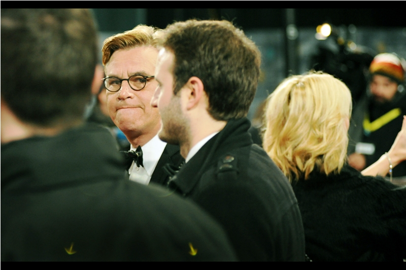 """""""Where ARE those arrows pointing??""""  Aaron Sorkin was nominated for best adapted screenplay for  'Steve Jobs'"""