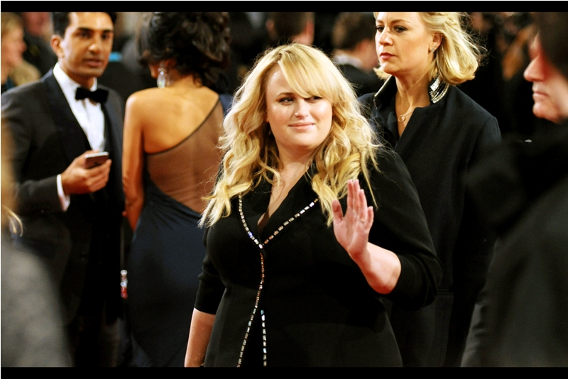 I last photographed Australia's Rebel Wilson at  last week's premiere for 'How To Be Single',  and since then she managed to put together one of the most squirm-inducingly awesome Bafta presenter speeches I've ever seen (and share an onscreen kiss with Eddie Izzard)